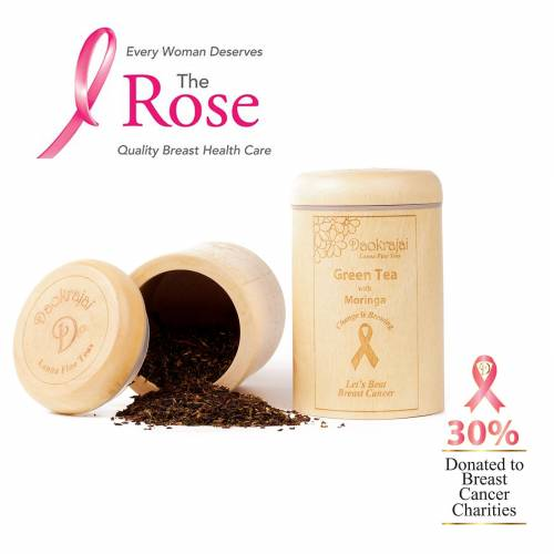 Green Tea Moringa Caddy supporting The Rose Breast Cancer Charity