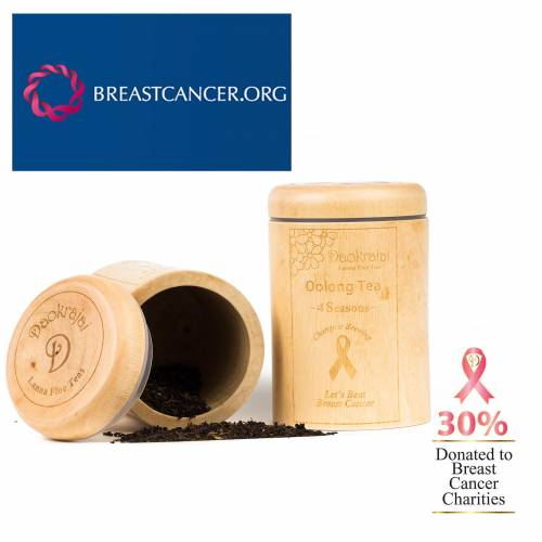 Oolong Four Seasons Tea BREASTCANCER.ORG Caddy
