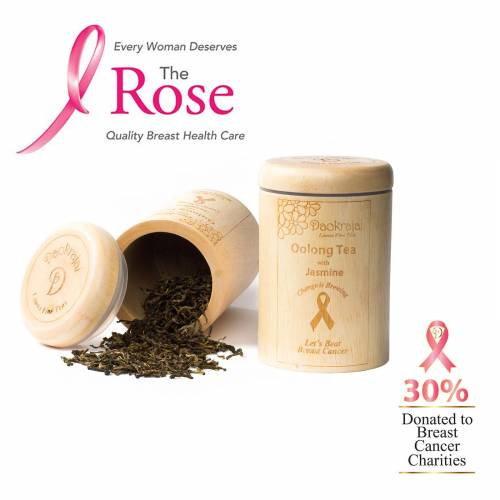 Oolong Tea Jasmine Caddy supporting The Rose Breast Cancer Charity