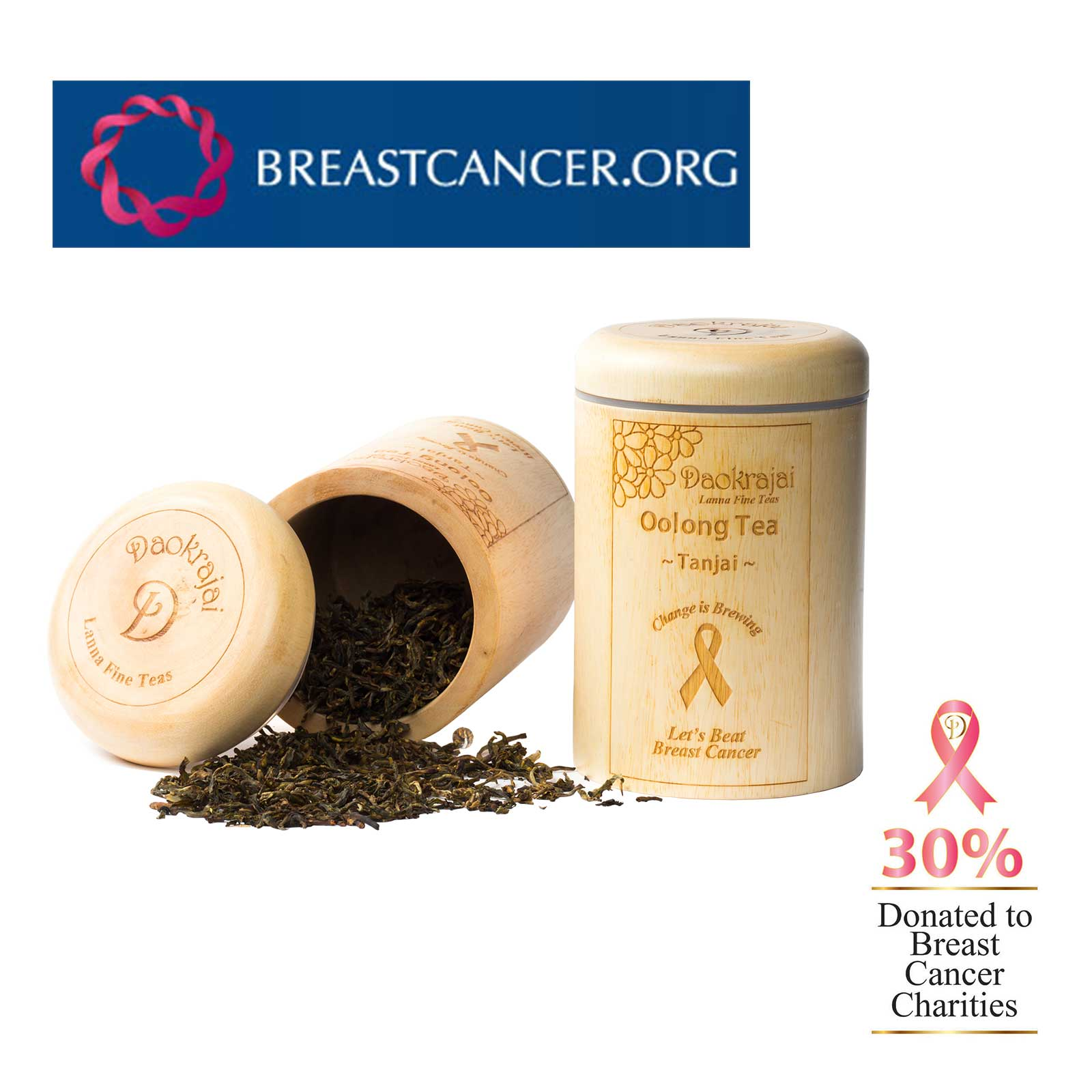 Oolong Tea Tanjai BREASTCANCER.ORG Caddy