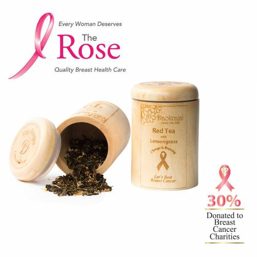 Red Tea with Lemongrass Caddy supporting The Rose Breast Cancer Charity