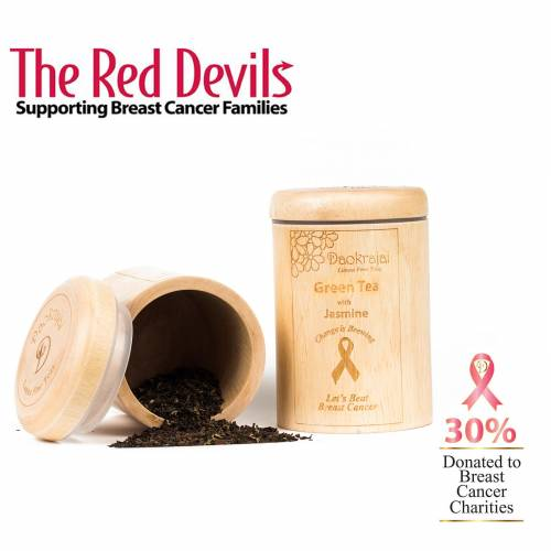 Green Tea with Jasmine supporting The Red Devils breast cancer charity