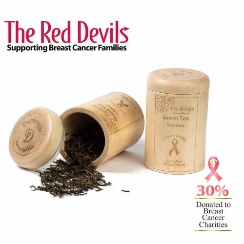 Green Tea Suriwun Caddy supporting The Red Devils Breast Cancer Charity