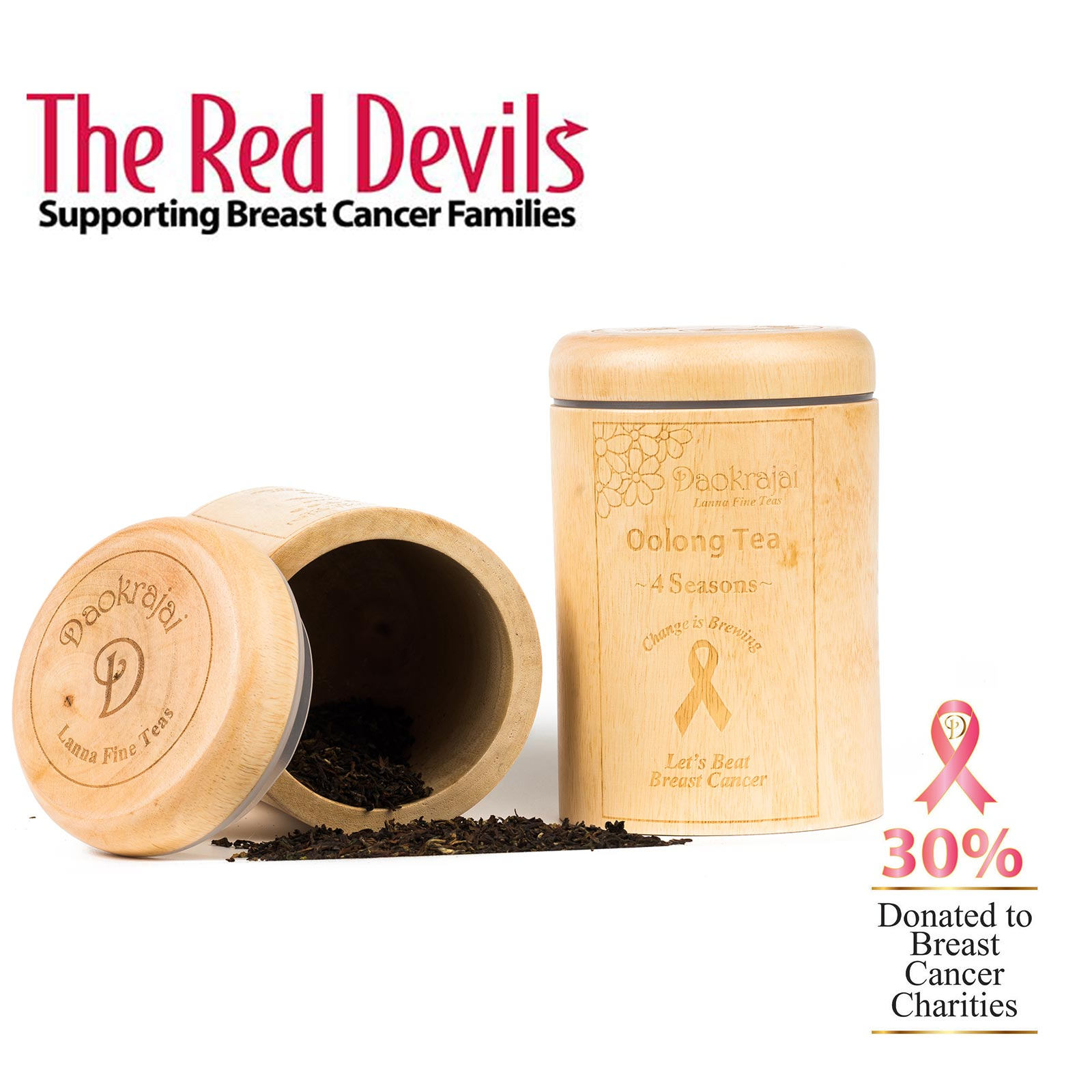 Oolong Tea 4 Seasons - supporting The Red Devils breast cancer charity