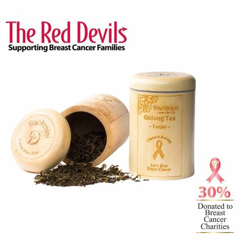 Oolong Tea Tanjai supporting The Red Devils breast cancer charity