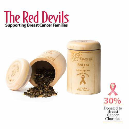 Red Tea with Lemmongrass - supporting The Red Devils breast cancer charity