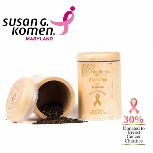 Green Tea with Jasmine supporting Susan G. Komen breast cancer charity