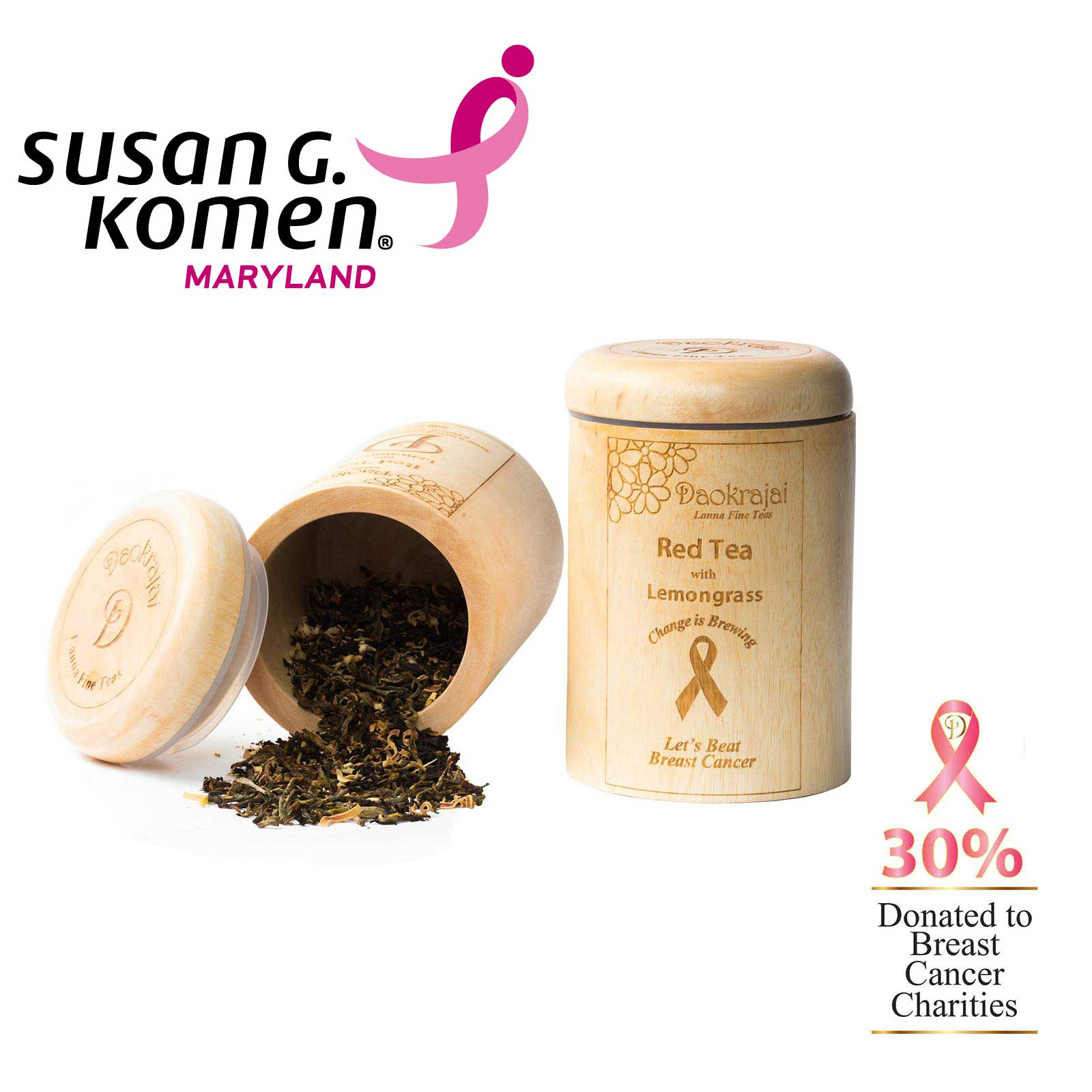 Red Tea with Lemmongrass - supporting Susan G. Komen Maryland breast cancer charity