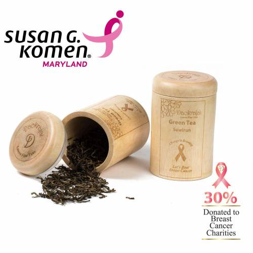 Green Tea Suriwun Caddy supporting The Susan G. Komen Maryland Breast Cancer Charity