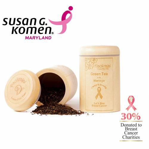 Green Tea Moringa Caddy supporting Susan G. Komen Maryland Breast Cancer Charity