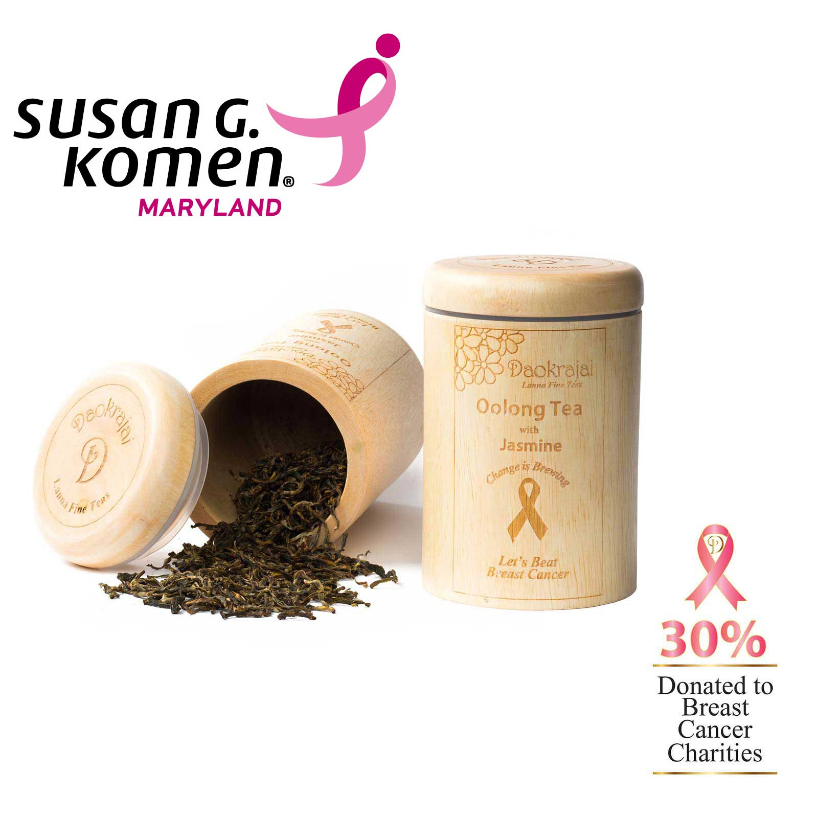 Oolong Tea Jasmine - supporting The Susan G. Komen Maryland breast cancer charity