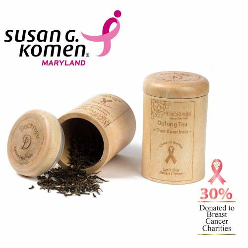 Oolong Tea Thea Kuan Imm Caddy supporting The Susan G. Komen Maryland Breast Cancer Charity