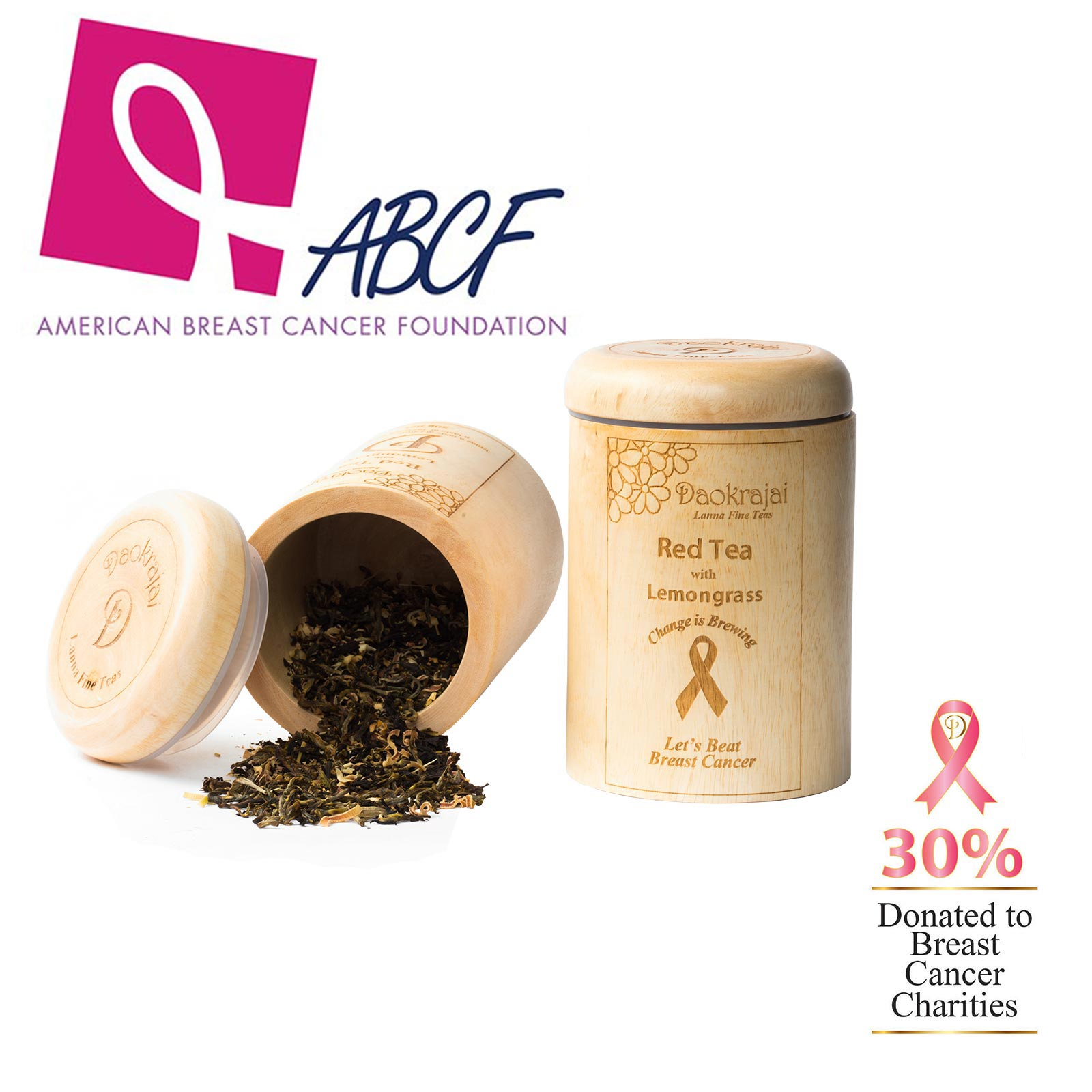 Red Tea with Lemongrass supporting the American Breast Cancer Foundation