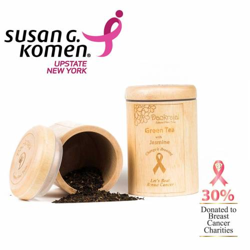 Green Tea with Jasmmine tea caddy supporting Susan G, Komen Upstate New York