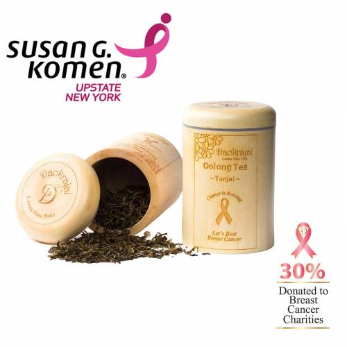 Oolong Tea Tanjai supporting Susan G. Komen New york breast cancer charity