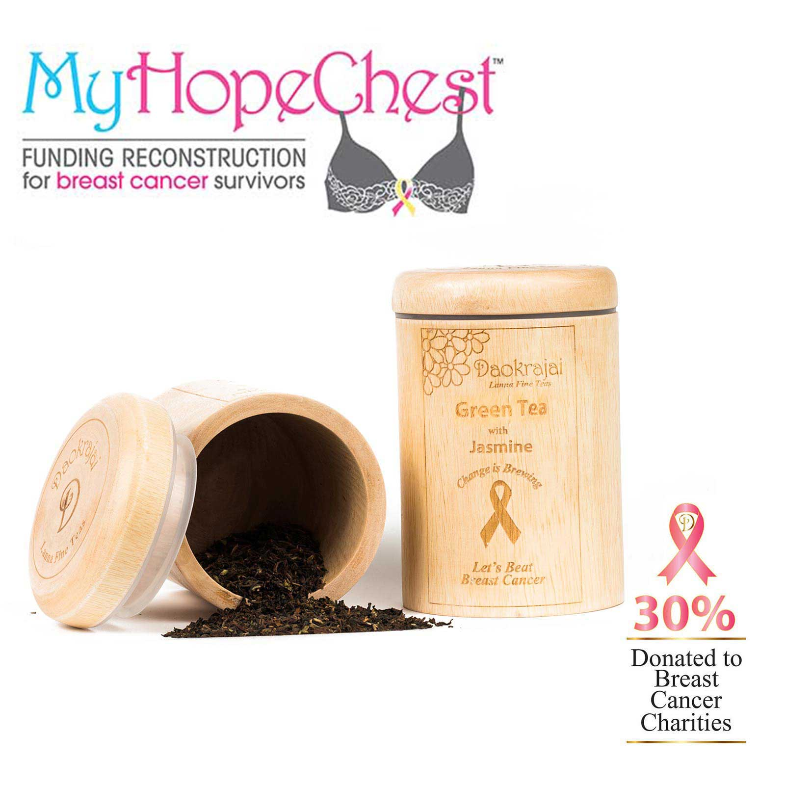 Green Tea with Jasmine supporting My Hope Chest cancer charity