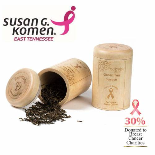 Green Tea Suwirun Caddy supporting the Susan G. Komen East Tennessee cancer charity