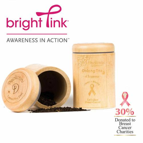 Oolong 4 seasons supporting Bright Pink Breast Cancer charity