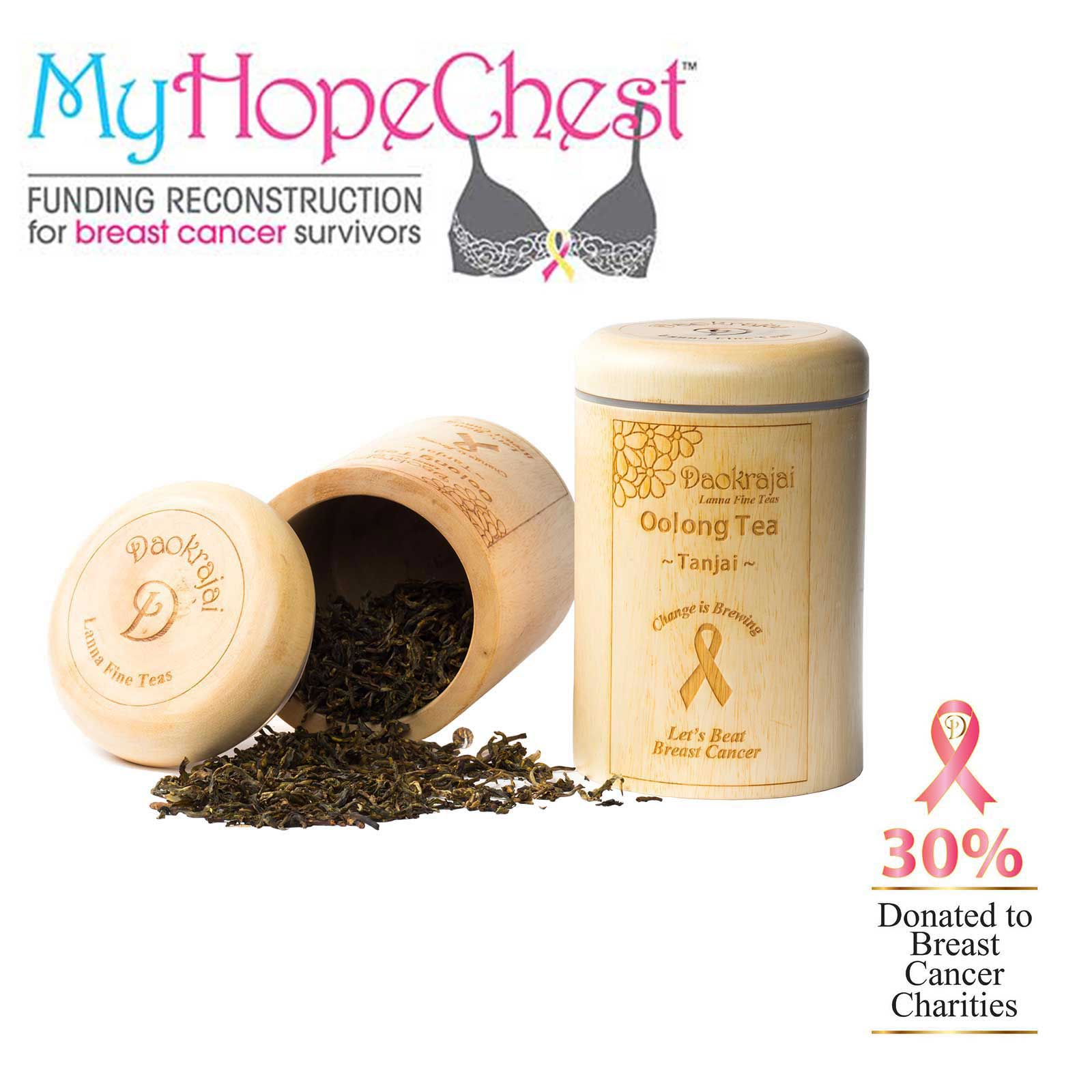 Oolong Tea Tanjai Caddy Supporting the My Hope Chest cancer charity