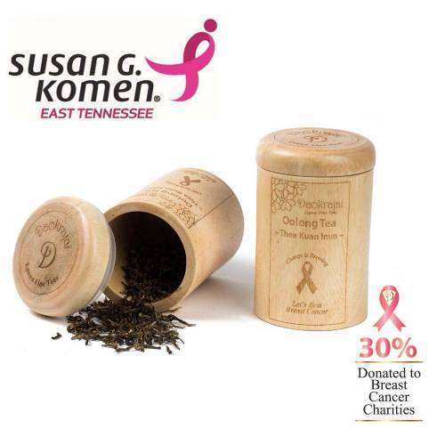 Oolong Tea Thea Kuan Imm Caddy supporting the Susan G. Komen East Tennessee cancer charity