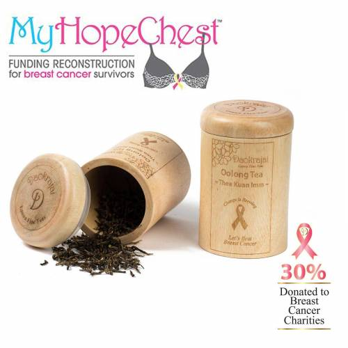 Oolong Tea Thea Kuan Imm Caddy supporting the My Hope Chest breast cancer charity
