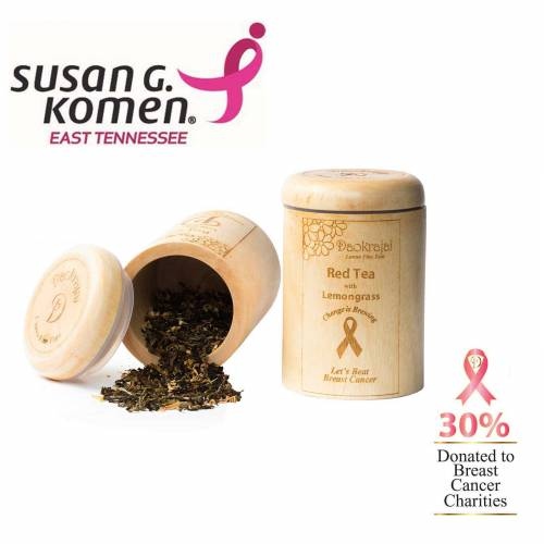 Red Tea with Lemongrass Caddy Supporting Susan G. Komen East Tennessee cancer charity